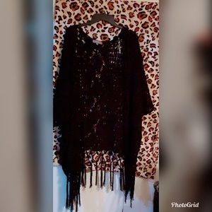 Black shaw/kimono